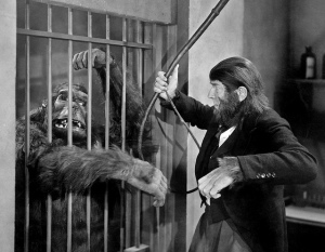 ape man bela lugosi and caged gorilla