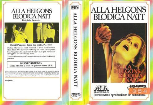 halloween alla helgons blodiga natt VHS sleeve
