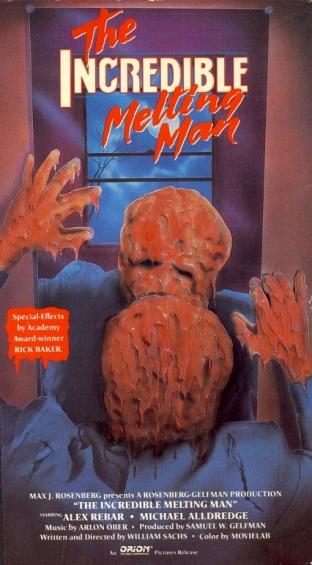 incredible melting man orion VHS