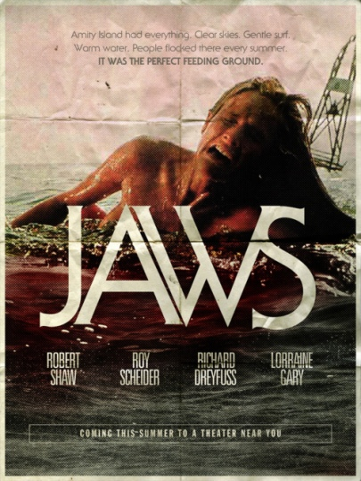 Jaws early promo poster