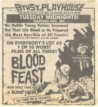 Blood Feast 1963 ad mat