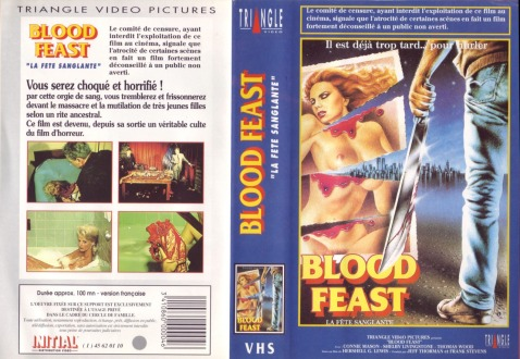 Blood Feast French VHS sleeve