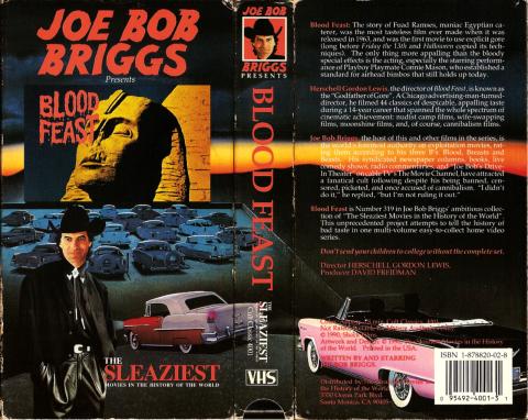 Blood Feast VHS Joe Bob Briggs