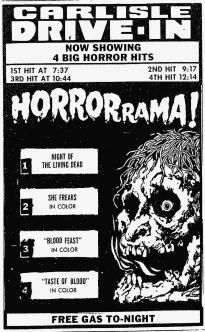 Drive-In Horrorama! ad mat
