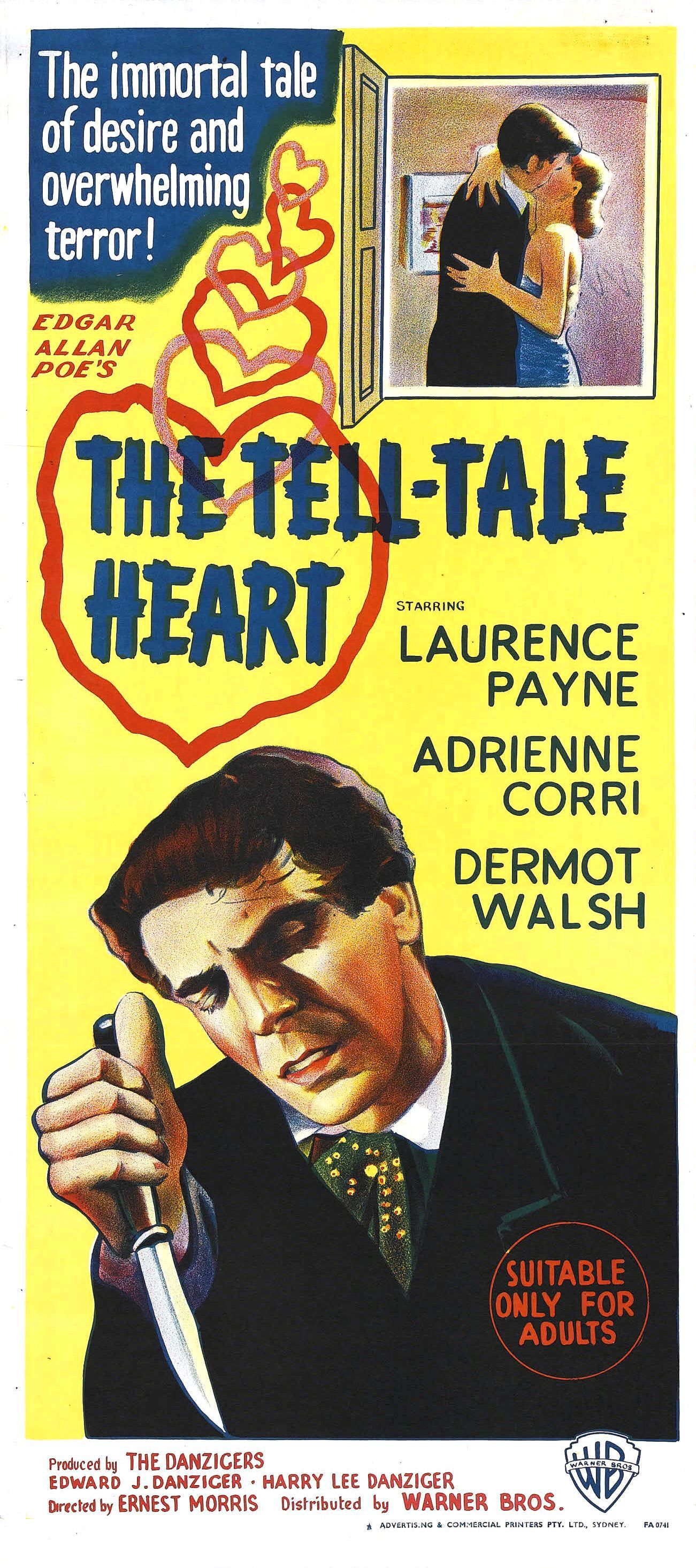 an analysis of the film version of edgar allan poes the tell tale heart Analysis of edgar allan poe's the tell tale heart essay 941 words | 4 pages edgar allan poe, whose personal torment so powerfully informed his visionary prose and.