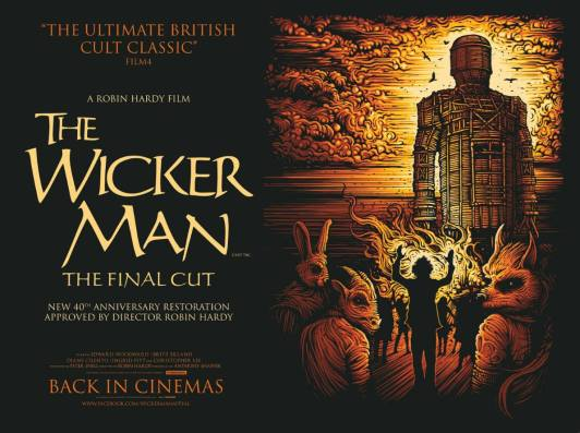 the wicker man final cut british quad poster