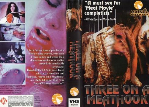 three on a meathook midnite media vhs sleeve