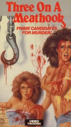 three on a meathook US video treasures VHS sleeve