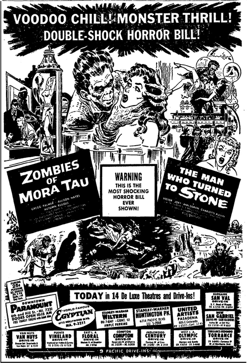 zombies of mora tau + the man who turnee to stone ad mat