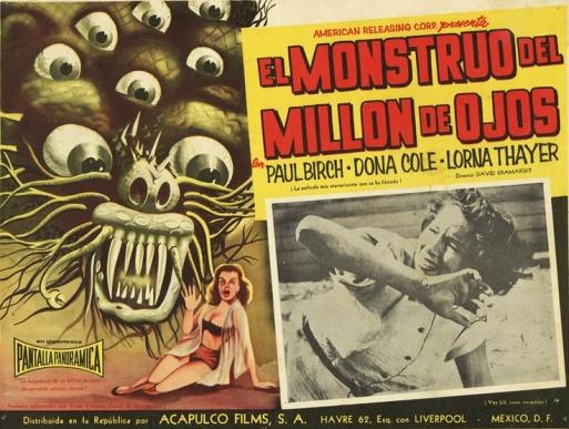 el mostruo del millon de ojos mexican poster