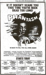 PHANTASM re May 2 1980