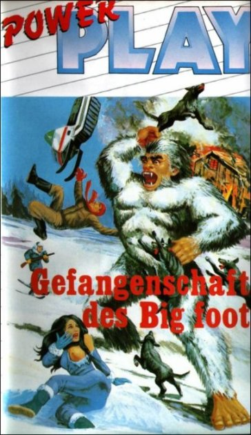 Gefangengschaft des Big Foot capture of bigfoot bill rebane german VHS