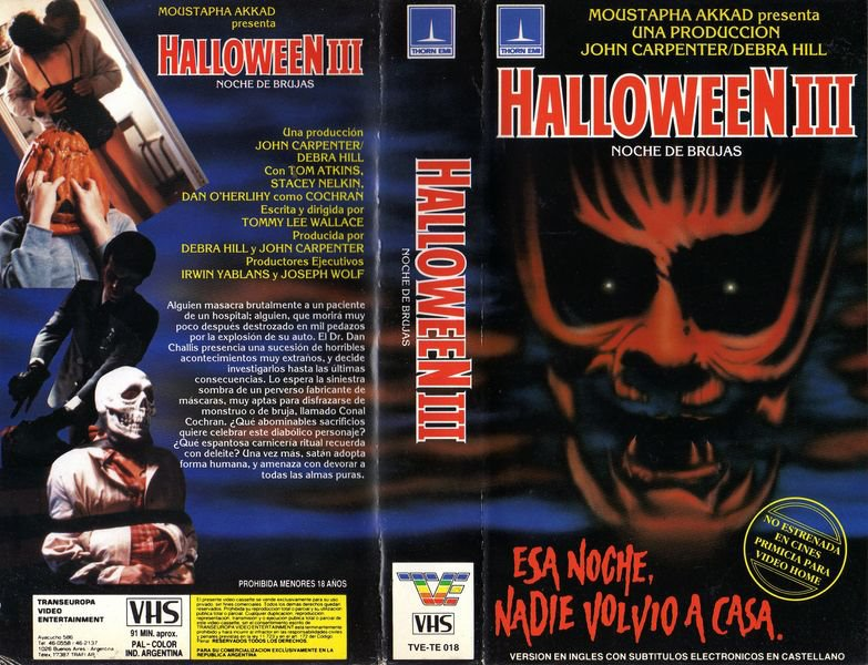 halloween 3 vhs - Halloween Iii Full Movie