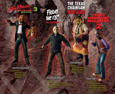 horror figurines freddy krueger jason vorhees leatherface chop top