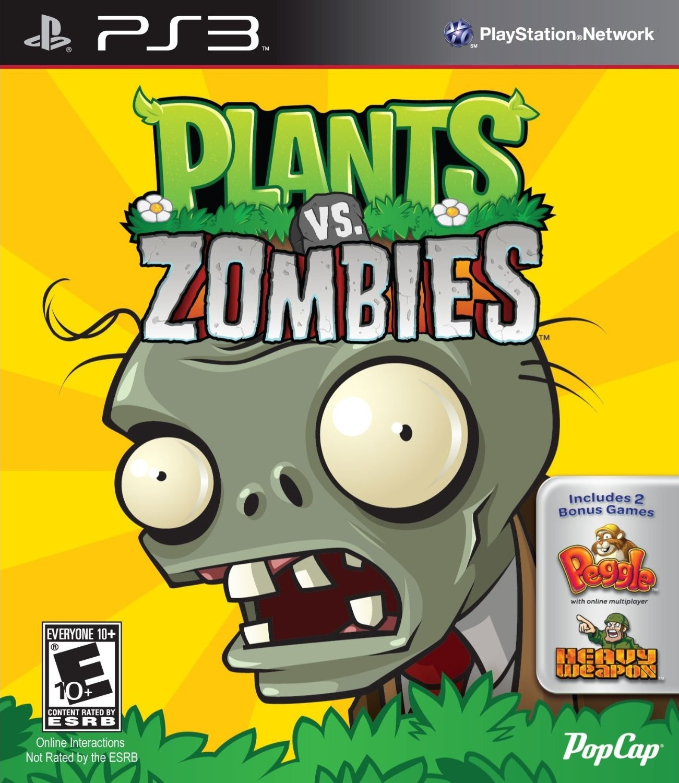 Plants vs zombies ps3 boxart