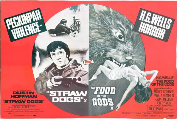 straw dogs + food of the gods british quad poster