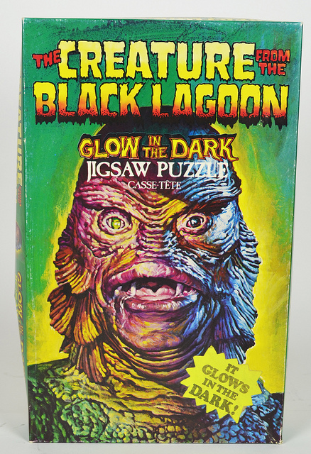 creature from black lagoon glow in the dark jigsaw puzzle