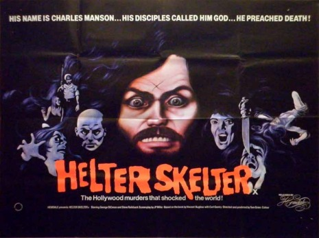 helter skelter charles manson movie british quad poster