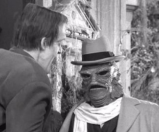 herman munster and the creature from the black lagoon