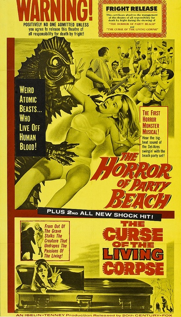 Image result for horrors of party beach poster