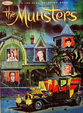 munsters coloring book