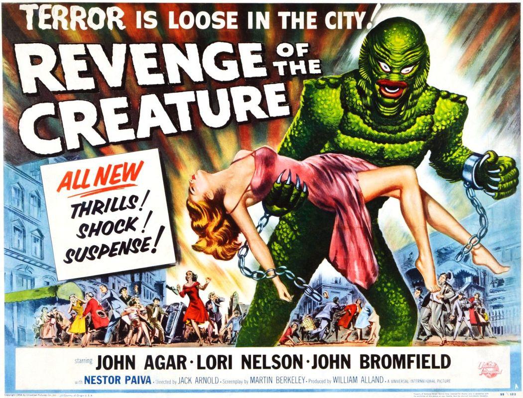 Resultado de imagem para revenge of the creature 1955 poster