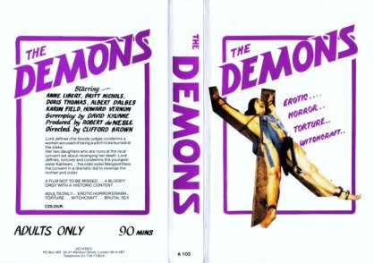 the demons go video UK VHS sleeve