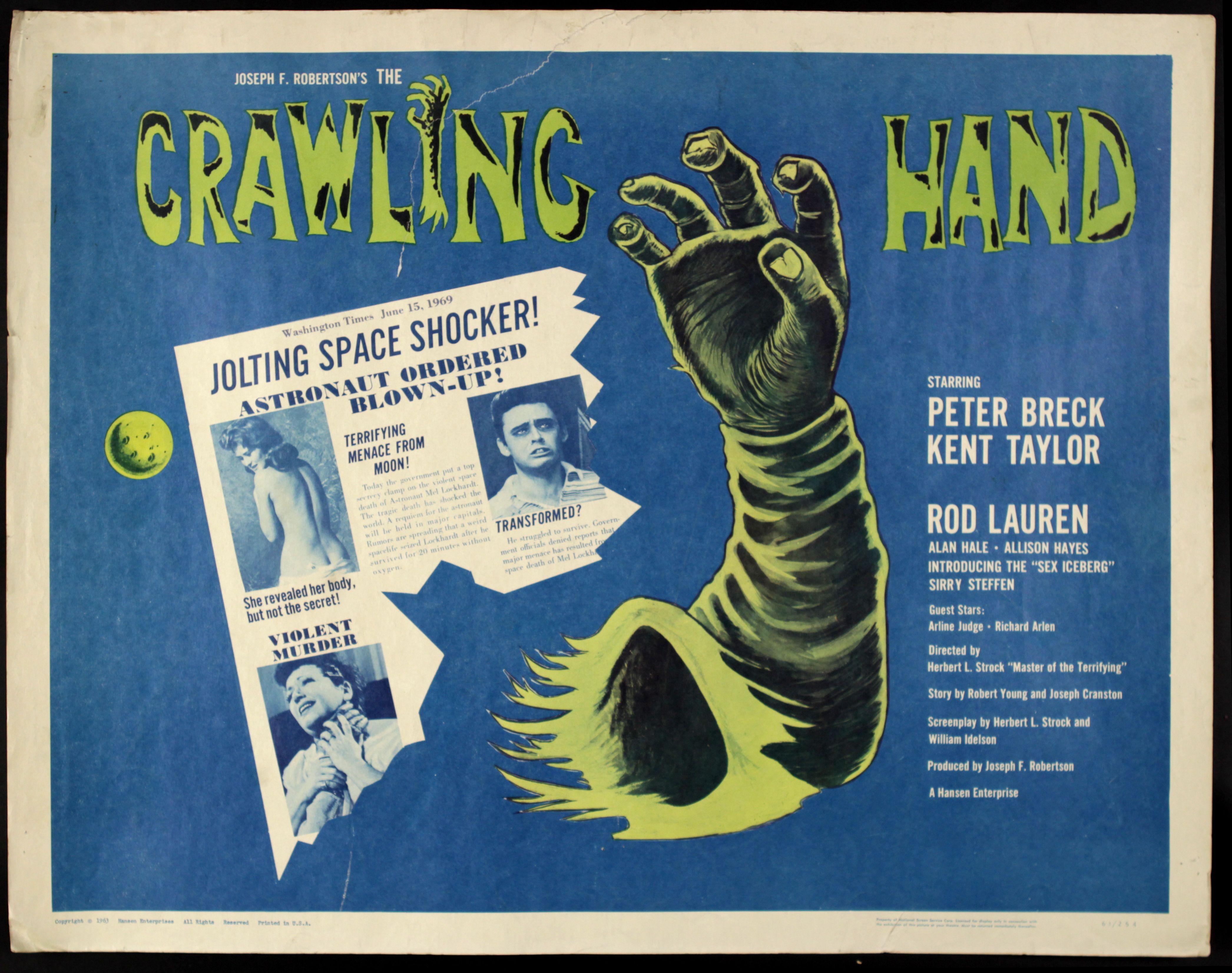 the crawling hand � usa 1963 � horrorpedia