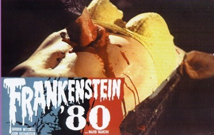 frankenstein '80 lobby card