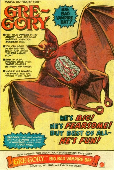Gre-Gory Big Bad Vampire Bat Mattel toy