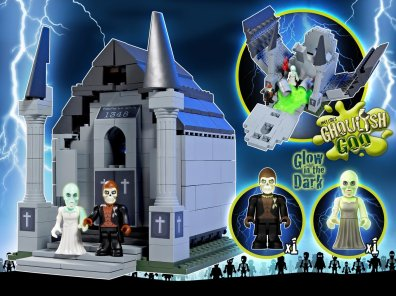 Character Building Monsters VS Zombies Crypt of Terror Playset