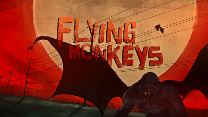 Image result for flying monkeys art