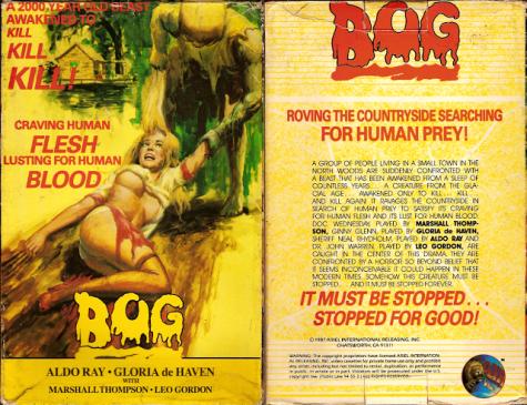 Bog Air Video VHS sleeve