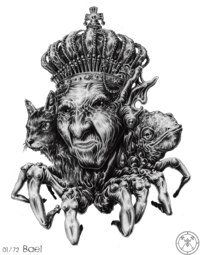 Baal, meaning lord, was the fertility deity of the canaanites and ranks first in the goetic 72 spirits, or demons