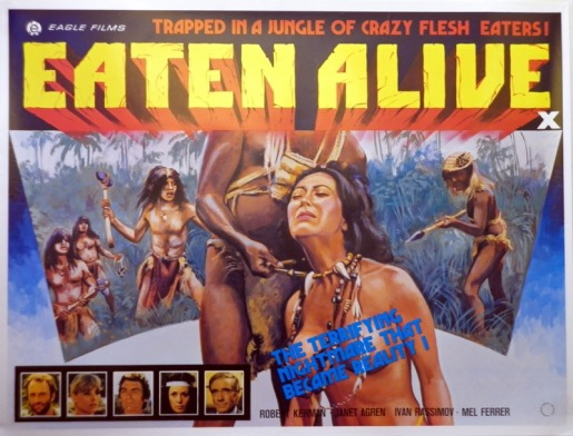 eaten alive 1980 british eagle films poster tom chantrell