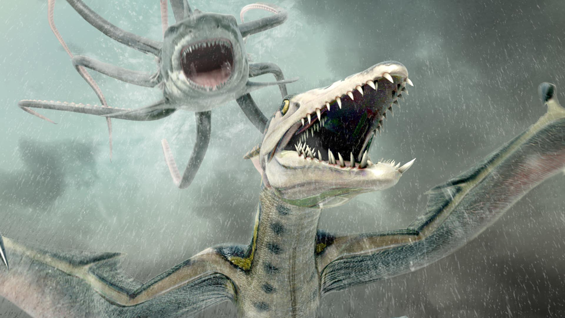 Sharktopus vs. Pteracuda | HORRORPEDIA