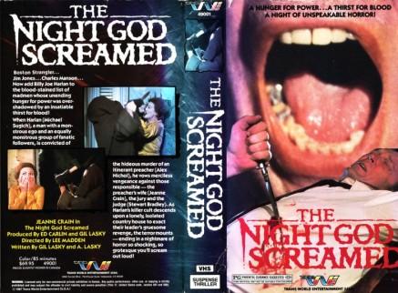 The Night God Screamed VHS