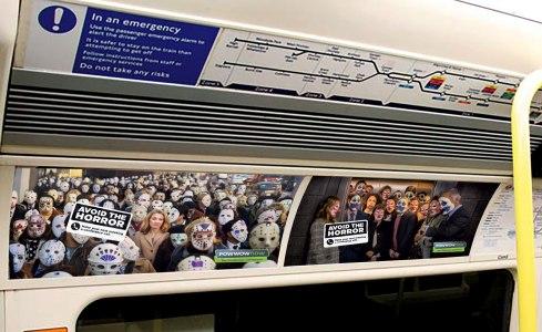 Image result for ads on tube trains