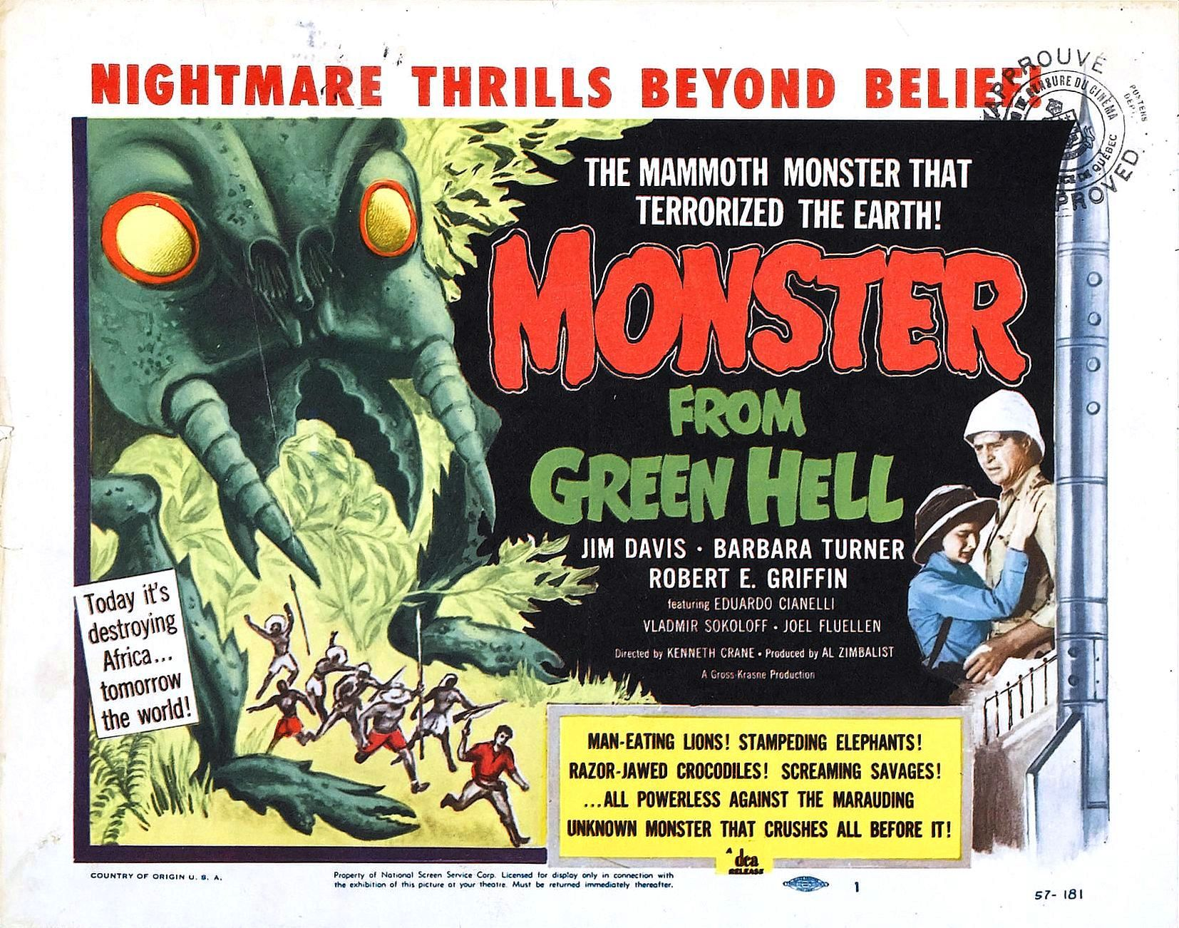 Monster from Green Hell – USA, 1957 – HORRORPEDIA
