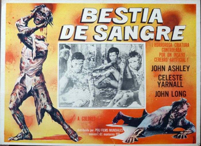 beast of blood mexican lobby card