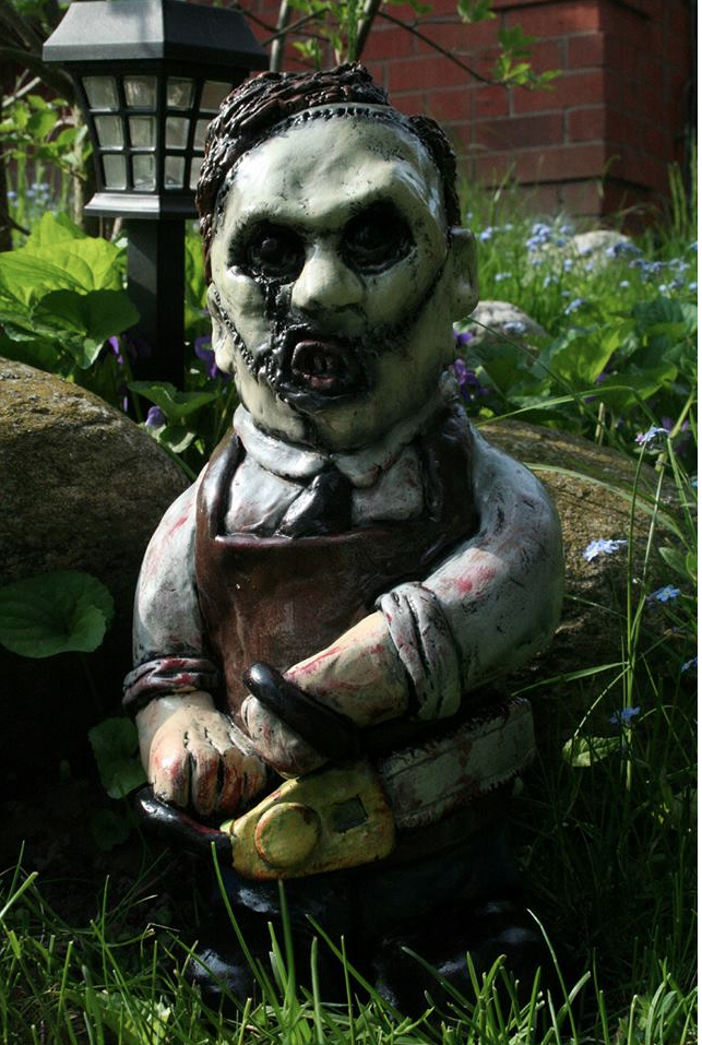 Lovely Leatherface Texas Chainsaw Gnome