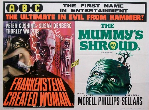 Frankenstein Created Woman Poster The Mummy's Shroud �...