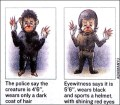 "In this artist's rendition from the Indian daily the Hindustan Times, two versions are seen Wednesday May 16, 2001 of the ""monkey man"" which allegedly attacked over 50 people Monday.  Police are blaming a band of men in masks for what they call hysteria among residents of New Delhi, who claim a mysterious ""monkey man"" has been attacking people late at night. (AP Photo/Hindustan Times)"