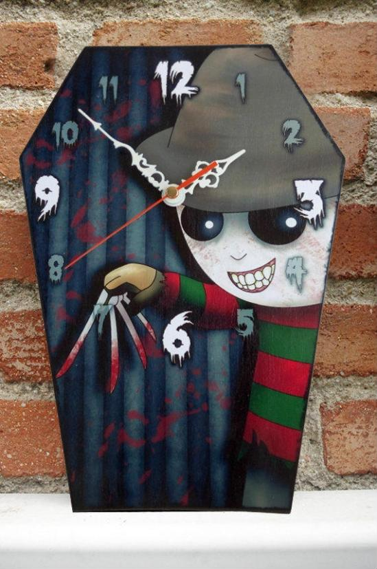 Coffin Shaped Horror Clocks Merchandise Horrorpedia