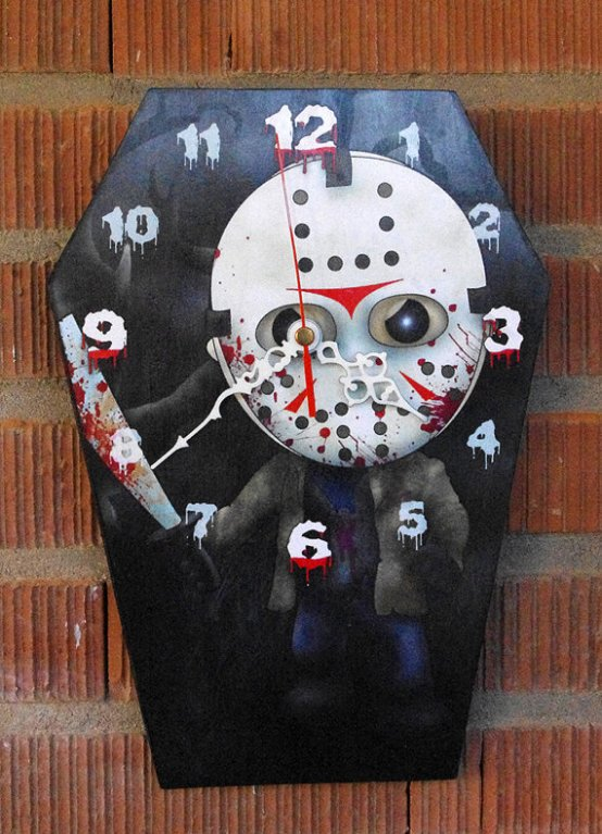 Coffin Shaped Horror Clocks Merchandise Horrorpedia